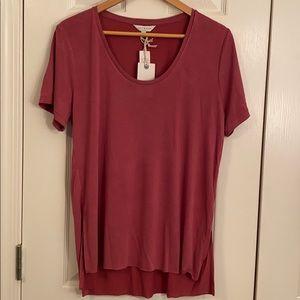 NWT Lucky Brand mauve T-shirt